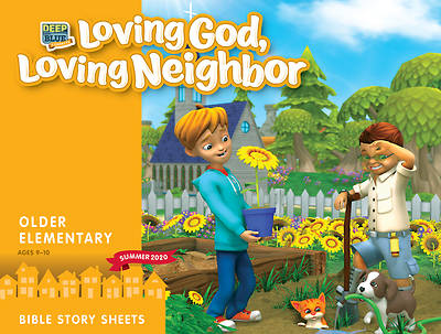 Picture of Deep Blue Connects Older Elementary Bible Story Sheets Summer 2020