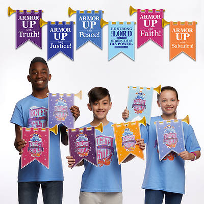 Picture of Vacation Bible School (VBS) 2020 Knights of North Castle Decorating Castle Mobiles (Pkg of 6)