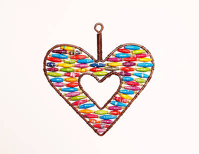 Open Heart Bead Ornament