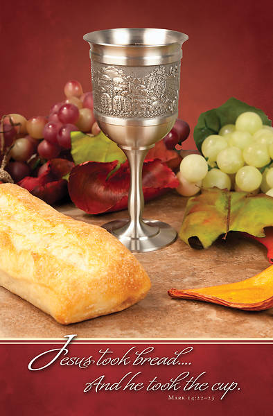 Picture of Jesus Took Bread Communion Regular Size Bulletin