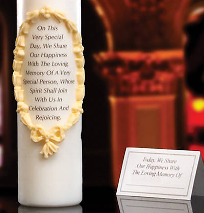 "Remembrance/Memorial Candle 3"" x 12"""