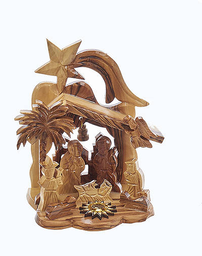 Olive Wood Nativity with Star
