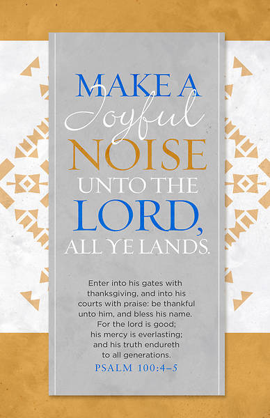 Picture of Make a Joyful Noise Unto the Lord Bulletin - Pack of 100