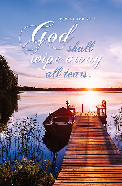 Picture of God Shall Wipe Away All Tears Funeral Regular Size Bulletin (Pkg of 100)