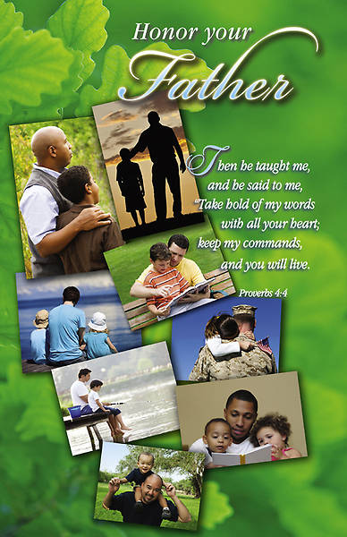 Fathers Day Bulletin Snapshots Proverbs 4:4 Regular (Package of 100)