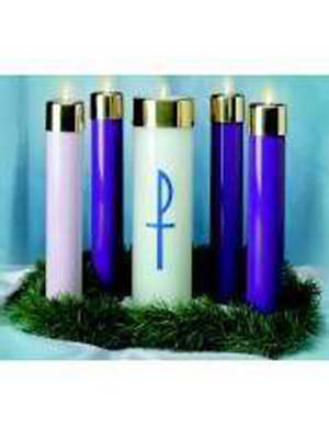 Picture of Advent With Christ Candela Set - 4 Blue