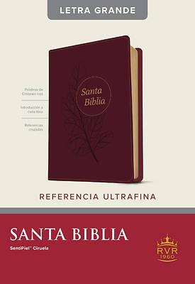 Picture of Santa Biblia Rvr60, Edición de Referencia Ultrafina, Letra Grande (Letra Roja, Sentipiel, Ciruela)