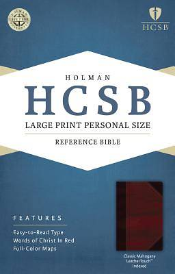 Picture of HCSB Large Print Personal Size Bible, Classic Mahogany Leathertouch Indexed
