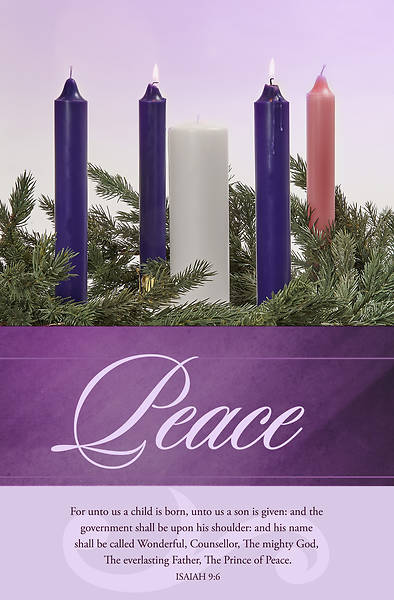 Picture of Peace Advent Week 2 Regular Size Bulletin