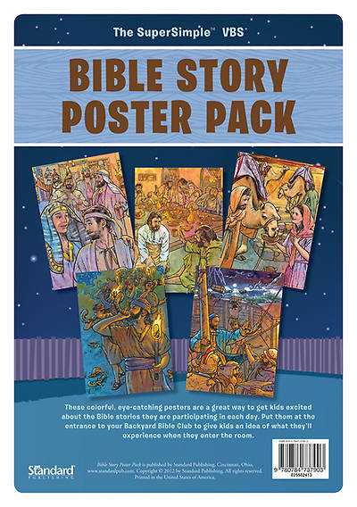 Standard Vacation Bible School 2013 Gods Backyard Bible Camp Stars Bible Story Poster Pack