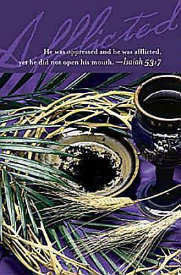 Afflicted Lenten Bulletin 2012, Regular Size (Package of 50)