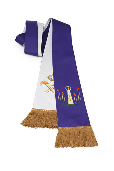 Advent/Christmas Purple/White Reversible Stole