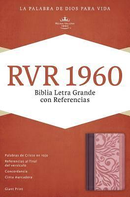 Picture of Rvr 1960 Biblia Letra Grande Con Referencias, Borravino/Rosado Simil Piel