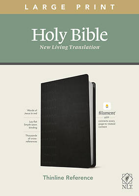 Picture of NLT Large Print Thinline Reference Bible, Filament Enabled Edition (Red Letter, Leatherlike, Black)