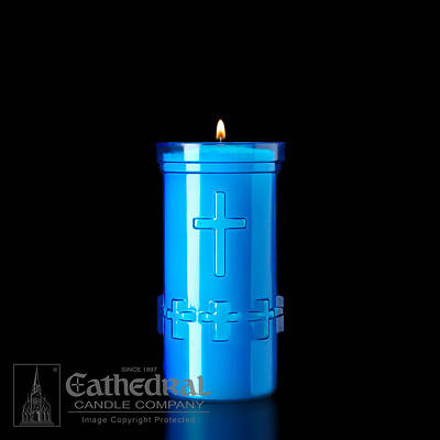 Picture of Cathedral Devotiona-Lites Plastic Offering Lights - 5 Day, Blue