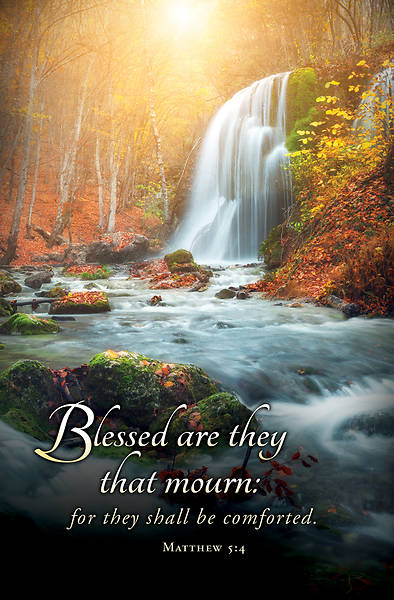 Blessed Are They That Mourn Funeral Regular Size Bulletin
