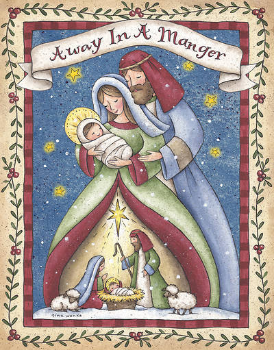 Away In A Manger Christmas Boxed Card (Pkg of 18)