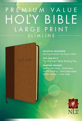 Premium Value Large Print Slimline Bible-NLT