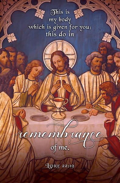 Picture of Fine Art Lord's Supper Bulletin Regular Luke 22:19