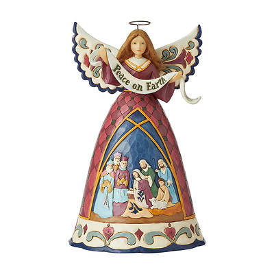 "Picture of Nativity Angel Peace on Earth Figurine 9.75""H"