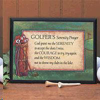 Golfing Serenity Prayer Plaque