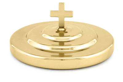 Artistic RW 403BR Solid Brass Communion Bread Plate Cover