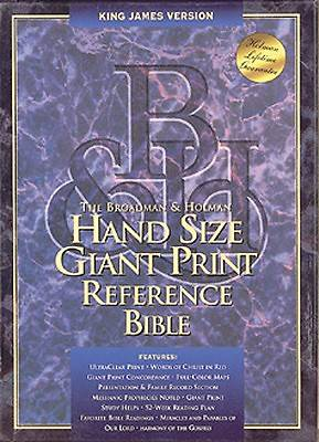 Hand Size Giant Print Reference Bible King James Version Burgundy Leather