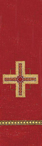 Kingdom Cross Lurex Stole - Red