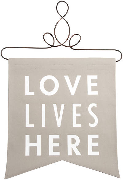 """Picture of Banner- Love Lives Here - 14"""" x 16"""""""