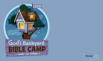Standard Vacation Bible School 2013 Gods Backyard Bible Camp Under the Stars Outdoor Banner