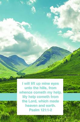 Picture of I Will Lift Up Mine Eyes Bulletin (Pkg 100) General Worship