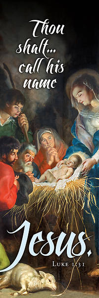 Picture of Call His Name Jesus Old Master Art Christmas 2' x 6' Banner