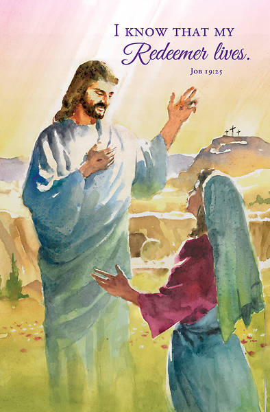 Picture of I Know That My Redeemer Lives Easter Regular Size Bulletin (Pkg of 100)