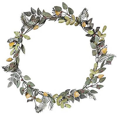 Picture of Cypress Home Metal Botanical Wreath - 20 x 4 x 20 Inches
