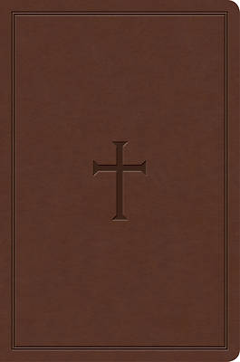 KJV Study Bible, Personal Size, Brown Cross Leathertouch