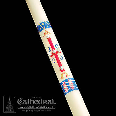 "Picture of Cathedral Benedictine Paschal Candle 1-1/2"" x 34"""