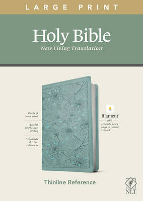 Picture of NLT Large Print Thinline Reference Bible, Filament Enabled Edition (Red Letter, Leatherlike, Floral/Teal)