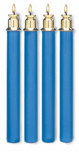 Tube Candles, Advent-- Blue (Set of 4)