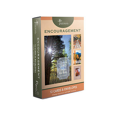 Encouragement Boxed Cards-Tree Designs Pack of 12