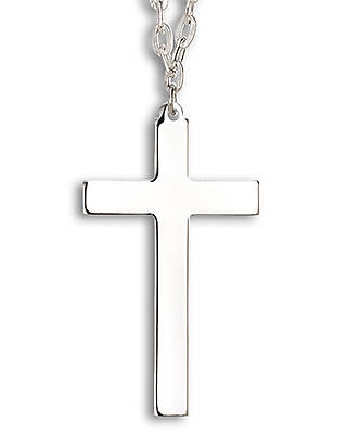 Picture of Latin Cross Silver Necklace with Chain