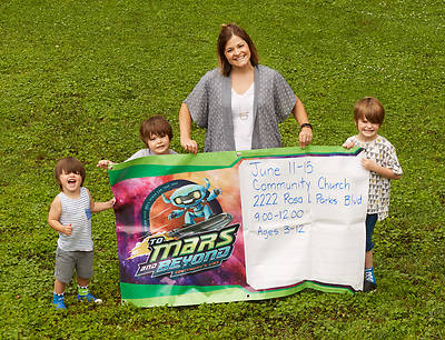 Picture of Vacation Bible School (VBS) To Mars and Beyond Outdoor Banner