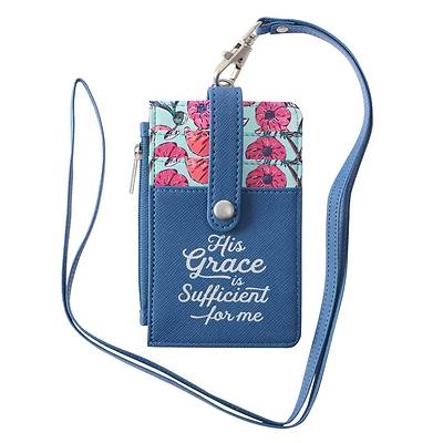Picture of Id Card Holder His Grace Is Sufficient 2 Corinthians 12