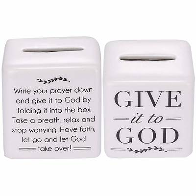 Give It To God Porcelain Prayer Box 2.5""