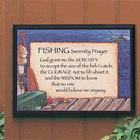 Picture of Fishing Serenity Prayer Plaque
