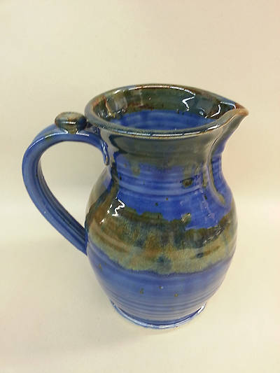 Picture of Earthenware Flagon, Dark Blue