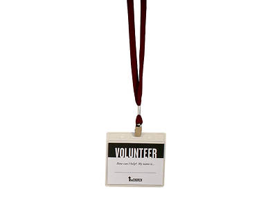 Volunteer Name Badge/Lanyard Combo - Pack of 3