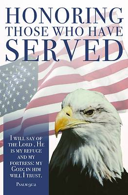 Picture of Honoring Those Who Have Served Bulletin (Pkg 100) Patriotic Veteran's Day