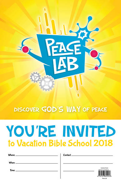 Vacation Bible School (VBS) 2018 Peace Lab: Inivitation Poster