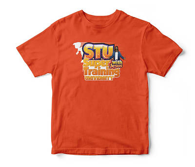 Picture of Vacation Bible School (VBS) 2019 Super Training University T-shirt Orange Adult XLarge