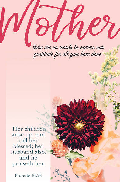 Blessed Mother's Day Regular Size Bulletin